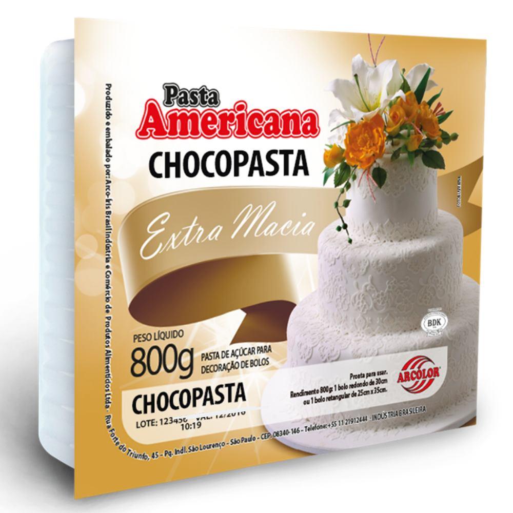 Pasta Americana Chocopasta 800g Arcolor cor Marrom