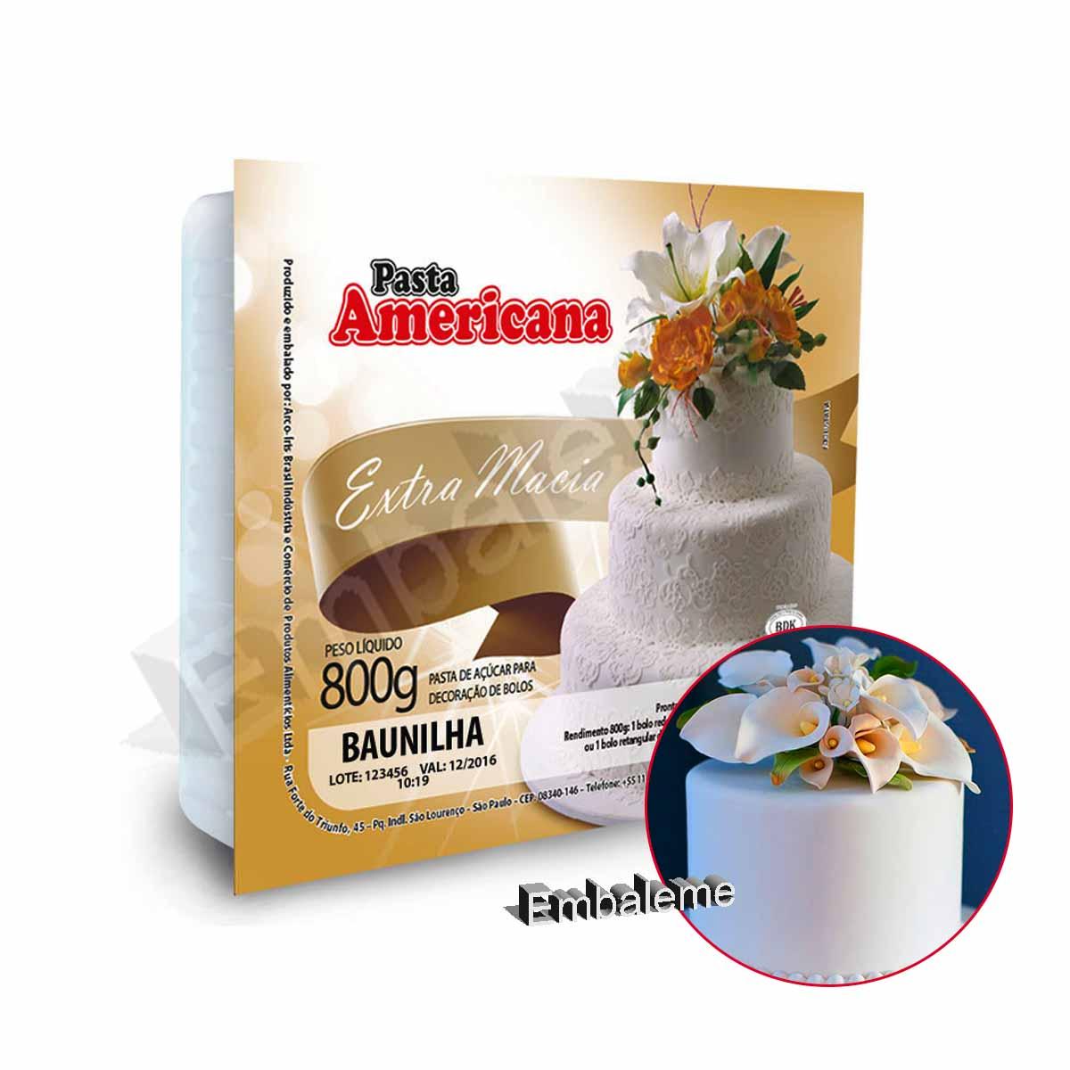 Pasta Americana Sabor Baunilha 800g Arcolor