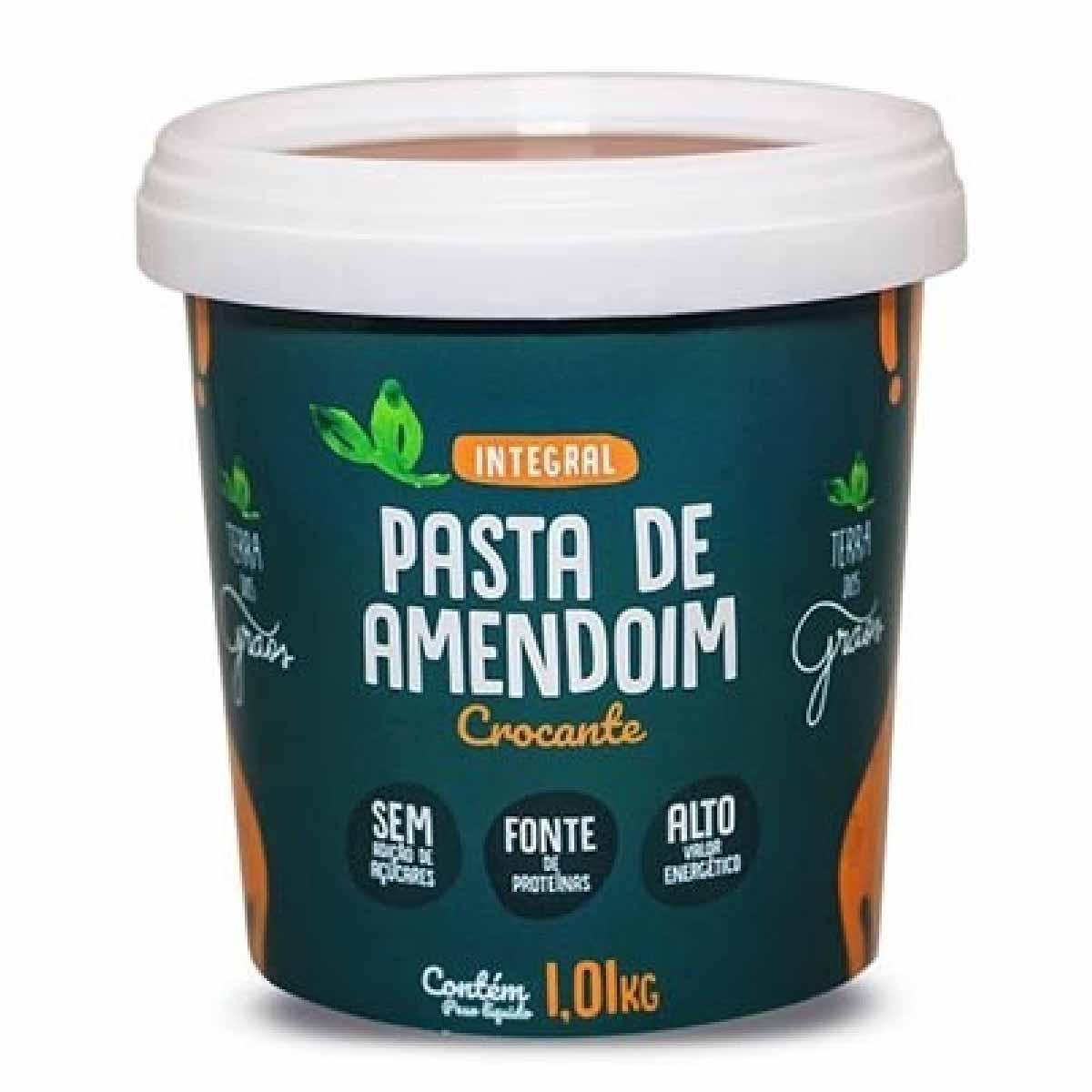 Pasta de Amendoim Crocante 1,01Kg Terra dos Grãos Integral