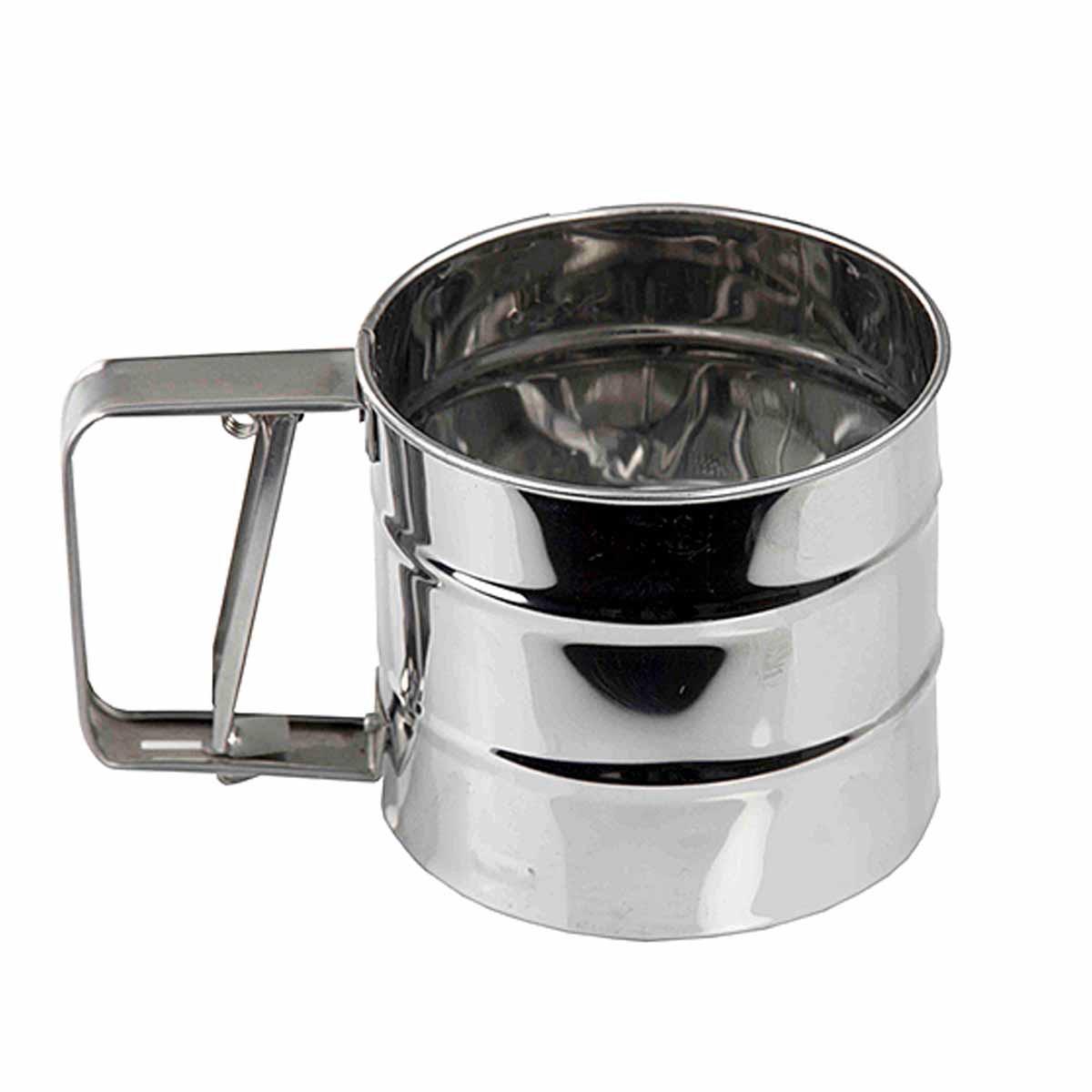 Peneira Aço De Farinha Para Confeitar - Inox Ydh-1372