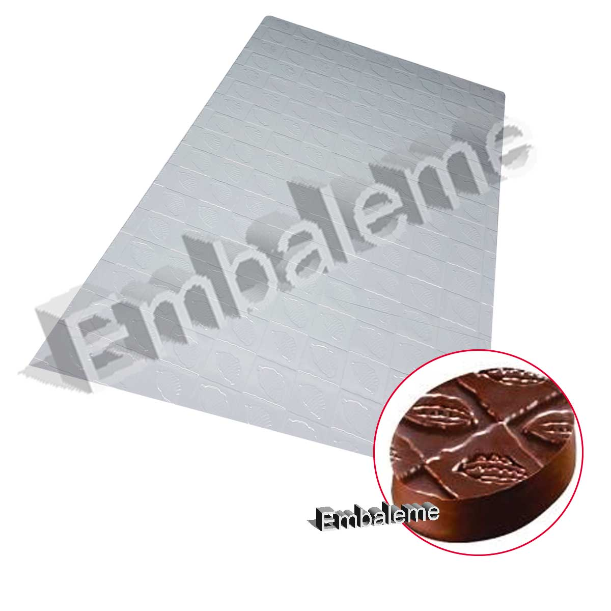 Placa de Textura Folhas Cacau Unidade (9381) BWB