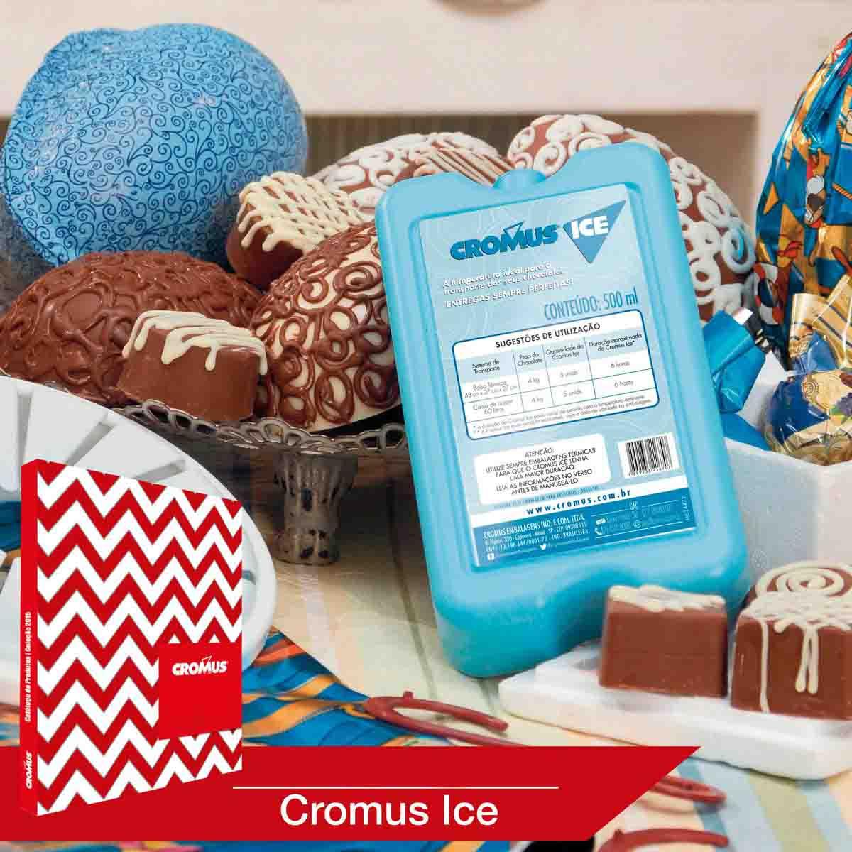 Placa Térmica Em Gel Cromus Ice Azul 500 Ml