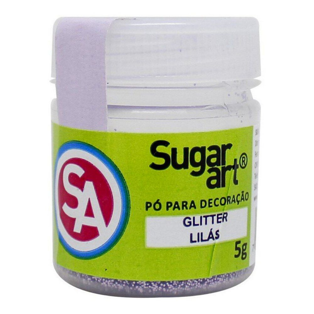 Pó para Decoração 5g Glitter Lilas Sugar Art