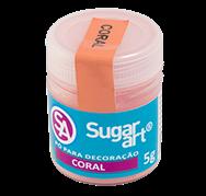 Pó para Decoração Cintilante Coral 3g Sugar Art