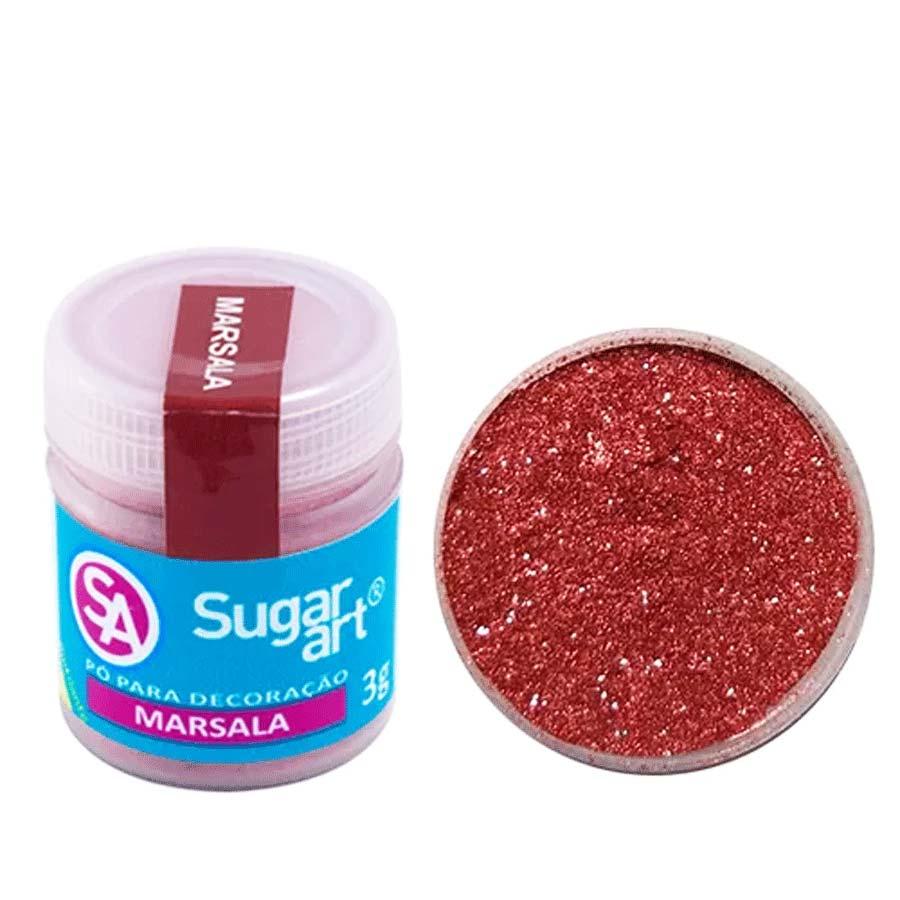 Pó para Decoração Cintilante Marsala 3g Sugar Art
