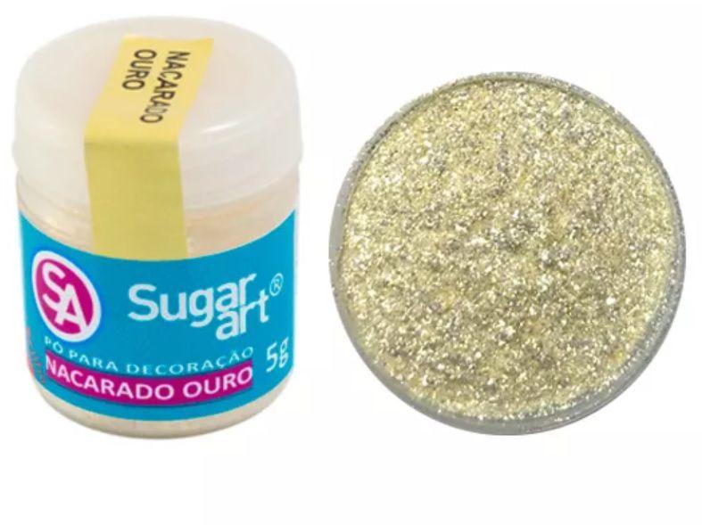 Pó para Decoração Cintilante Nacarado Ouro 5g Sugar Art