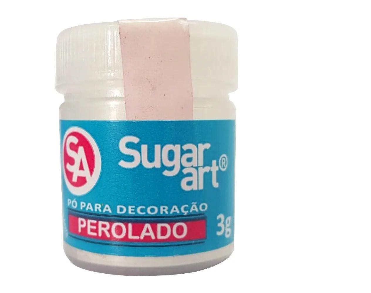 Pó para Decoração Cintilante Perolado 3g Sugar Art