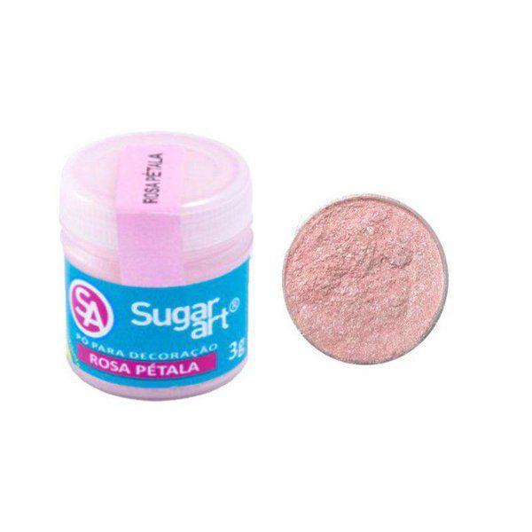 Pó para Decoração Cintilante Rosa Pétala 3g Sugar Art
