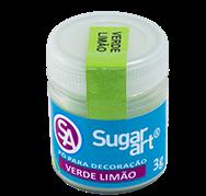 Pó para Decoração Cintilante Verde Limão 3g Sugar Art