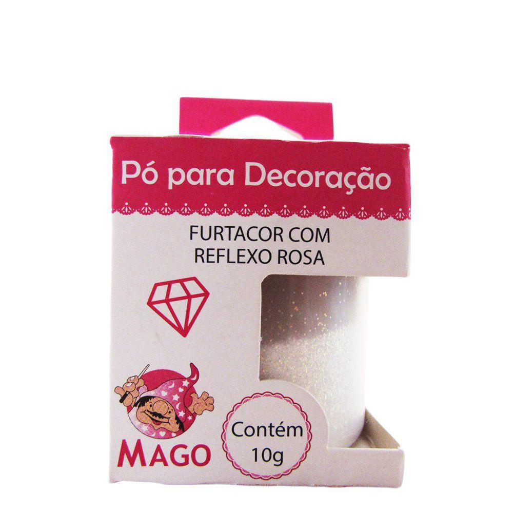 Pó para Decoração Furtacor com Reflexo Rosa 10g Mago