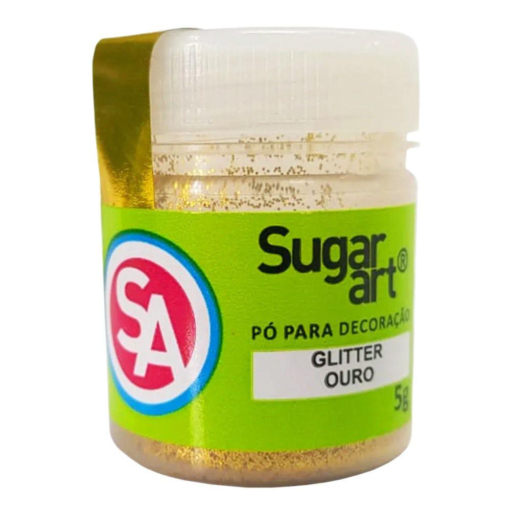 Pó para Decoração Glitter Ouro 5g Sugar Art