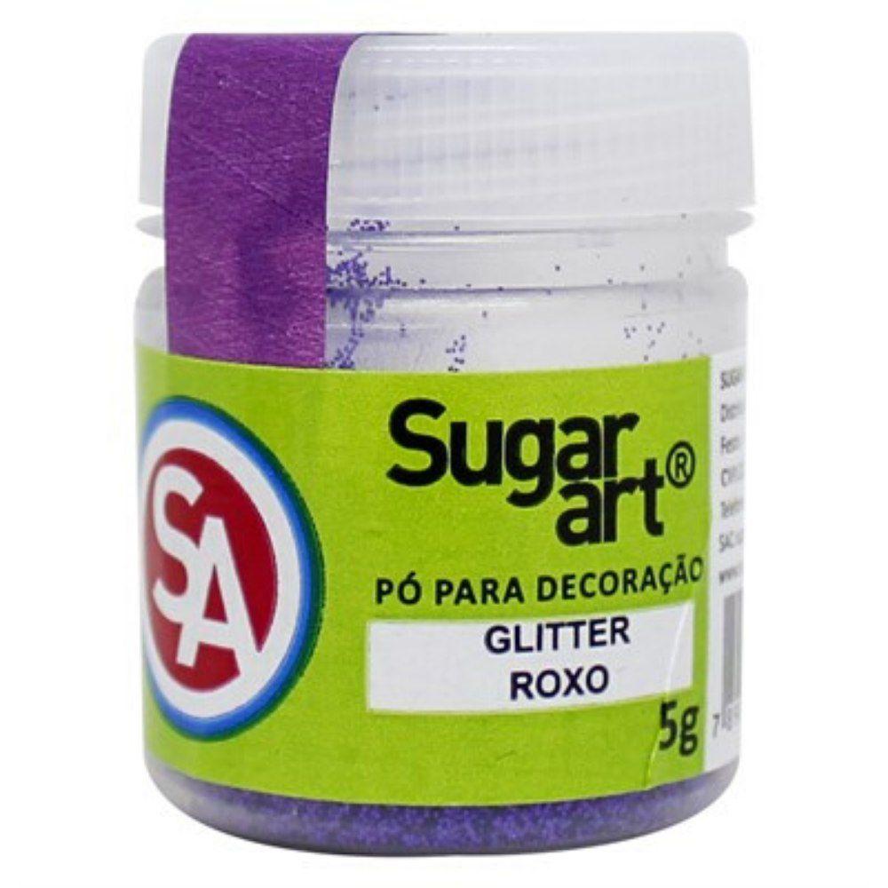 Pó para Decoração Glitter Roxo 5g Sugar Art