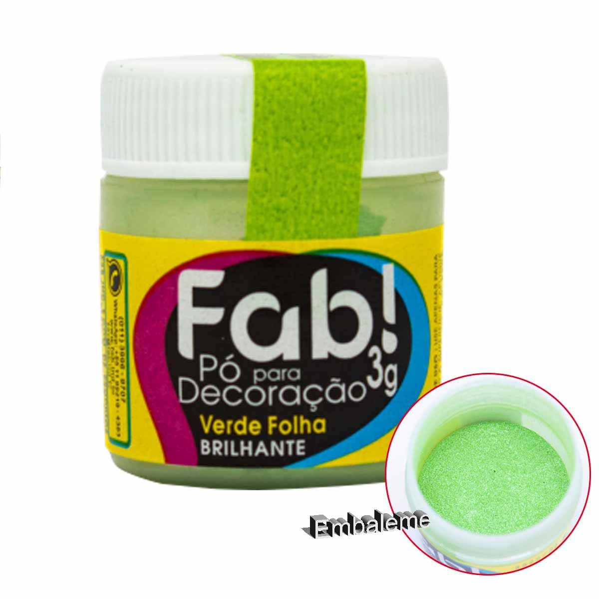 Pó para Decoração Verde Folha 3g FAB