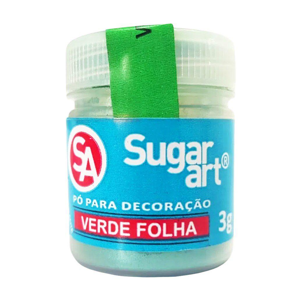 Pó para Decoração Verde Folha 3g Sugar Art