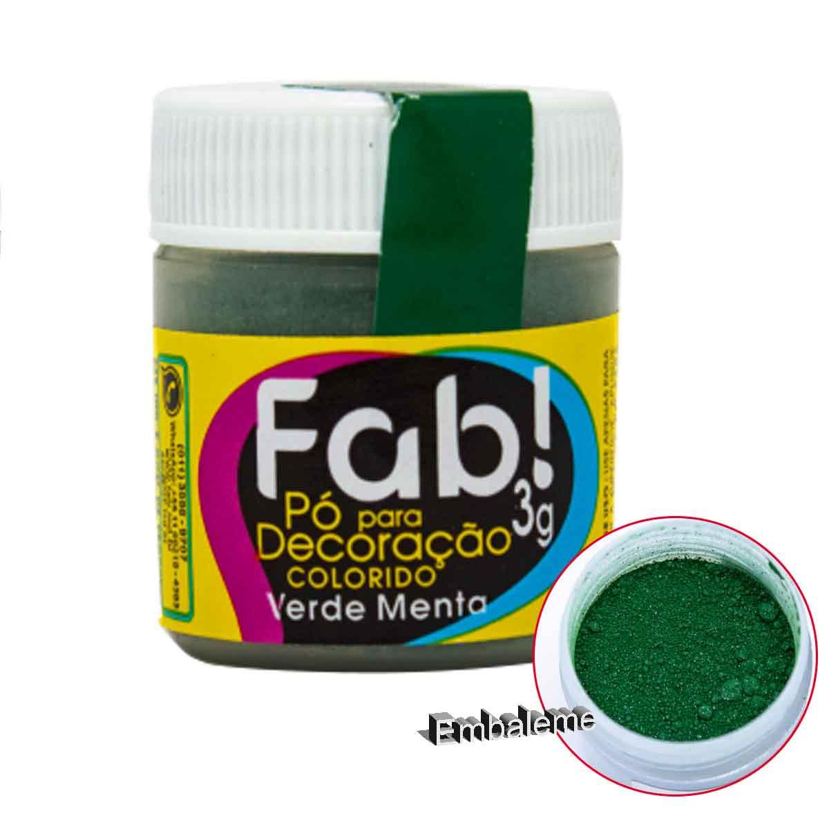 Pó para Decoração Verde Menta 3g FAB