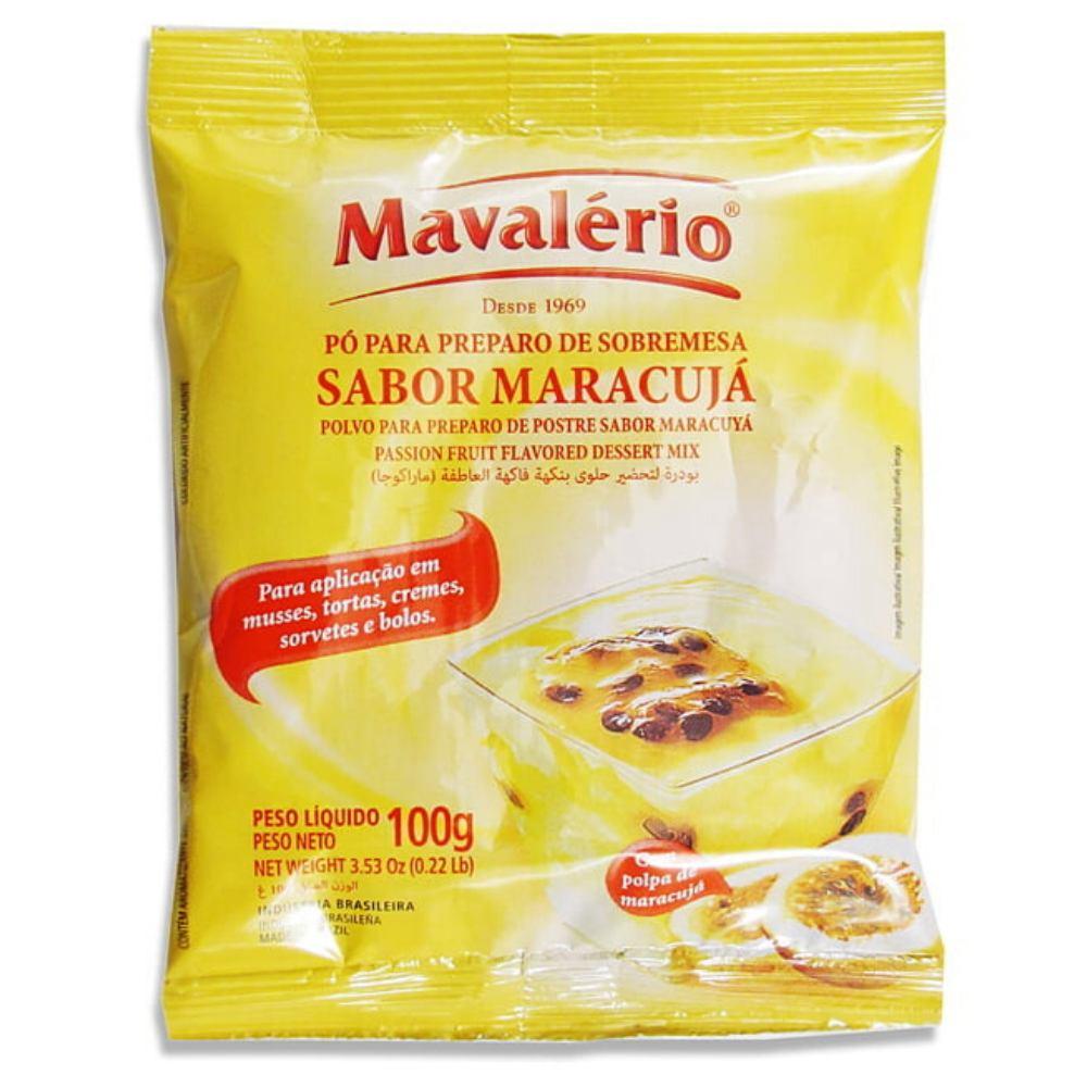 Pó para Preparo de Sobremesa Sabor Maracujá 100g Mavalério.