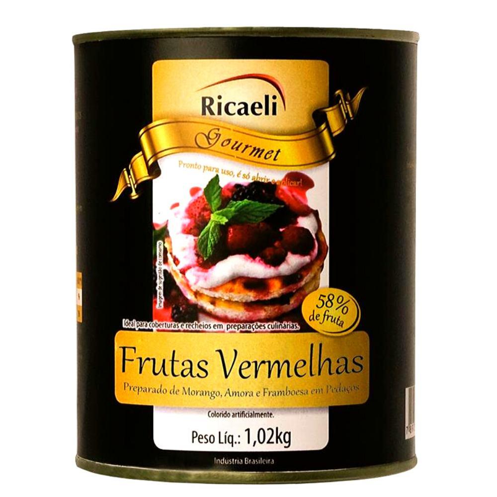 Polpa de Frutas Vermelhas 1,02kg Ricaeli