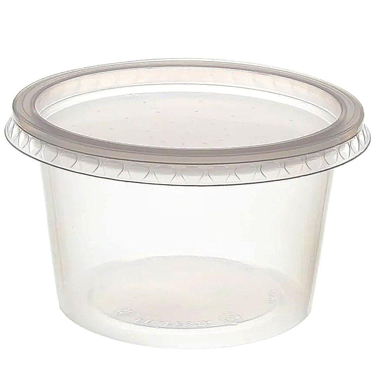 Pote com Sobretampa Rioplastic 250ml Kit com 75 unidades