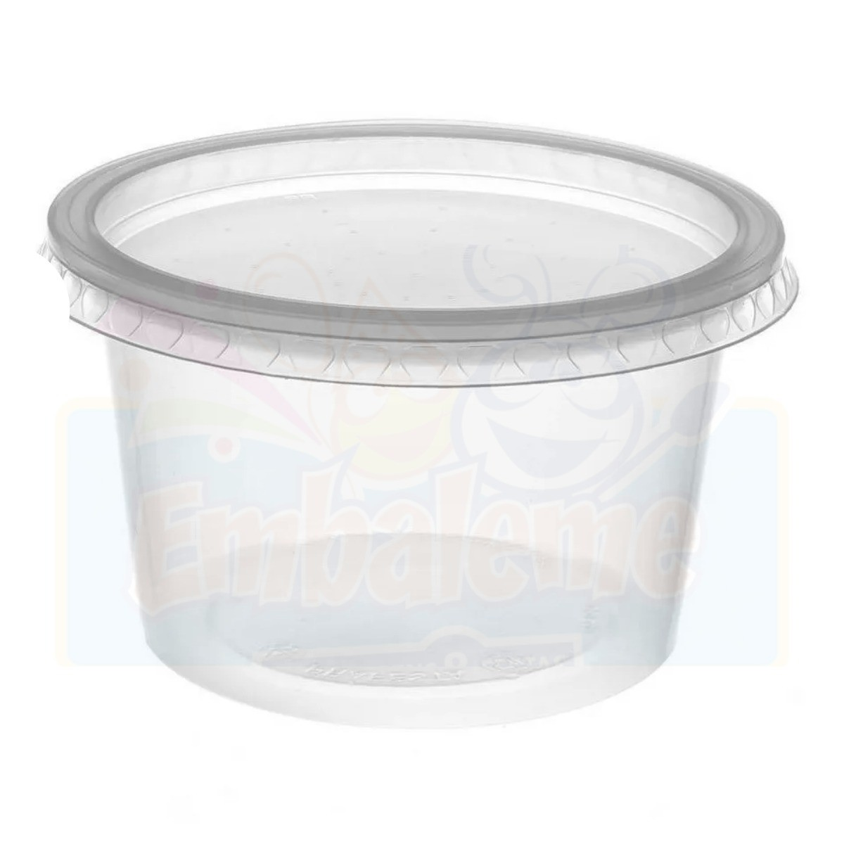 Pote Redondo 250ml Para Microondas E Freezer C/50 Rioplastic