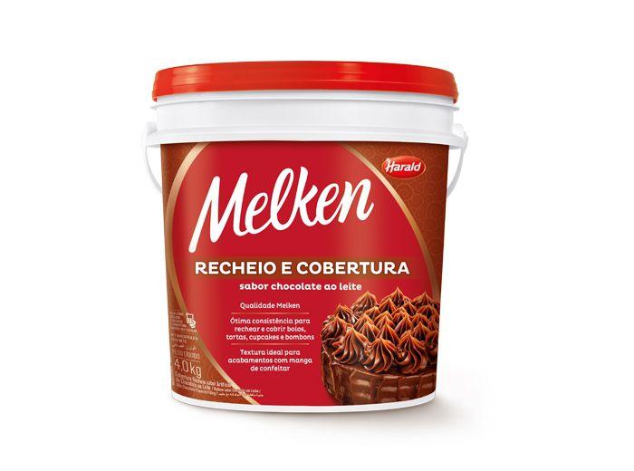 Recheio e Cobertura sabor Chocolate ao Leite Melken Balde 4,0kg Harald