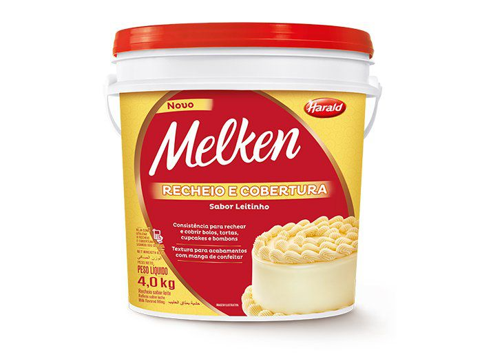 Recheio e Cobertura sabor leitinho Melken Balde 4,0kg Harald