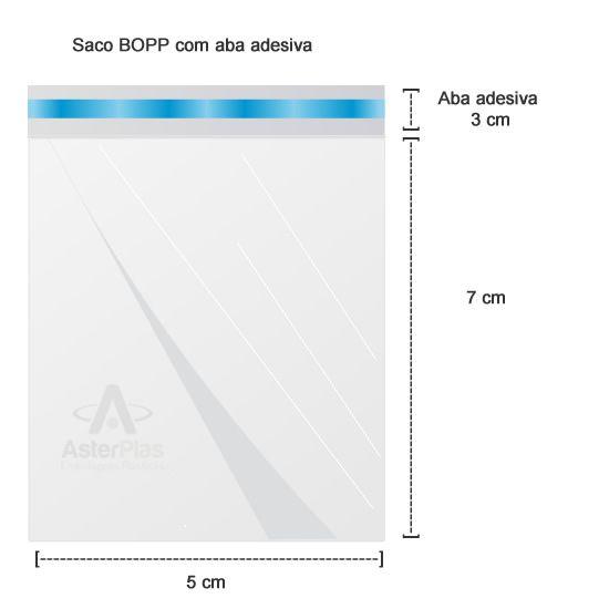Saco pp Adesivo 5cm x 7cm C/100 Bompack