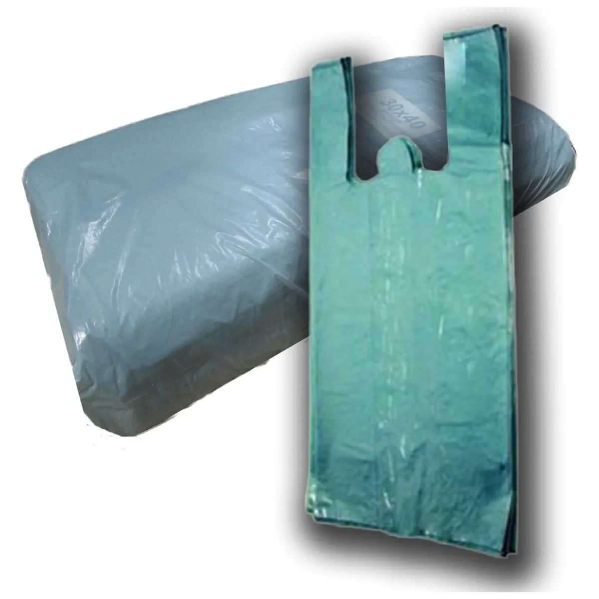Sacola Reforçada 30x40 Verde Recuperada Reforçada 4kg