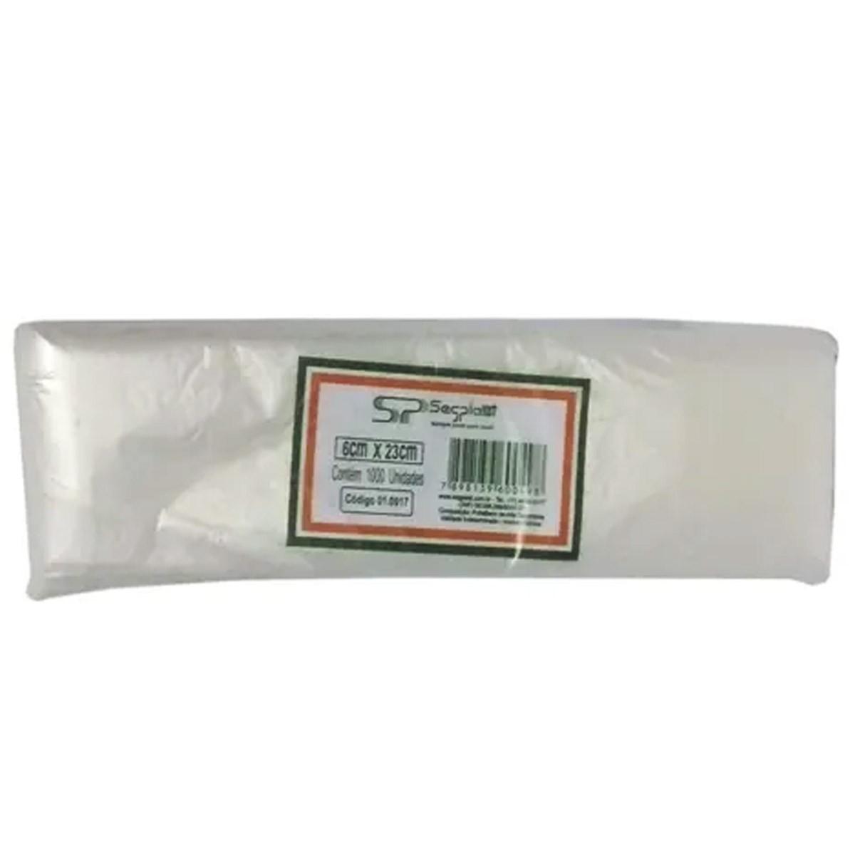 Saquinho Geladinho Gourmet 6x23cm Segplast C/1000 Un.