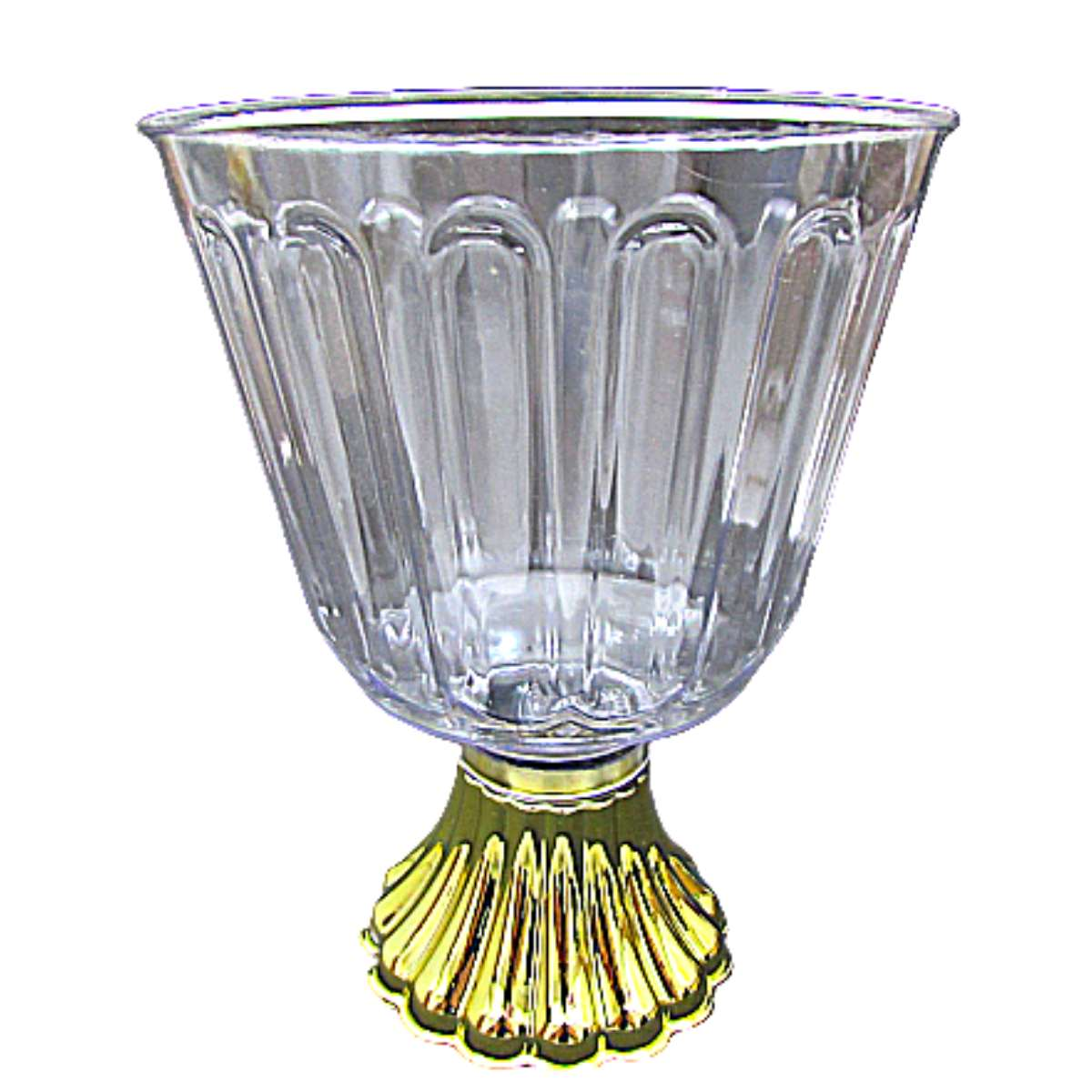 Taça de Acrílico Luxo Ouro Bolo na Taça Confeiteiro 1,250ml