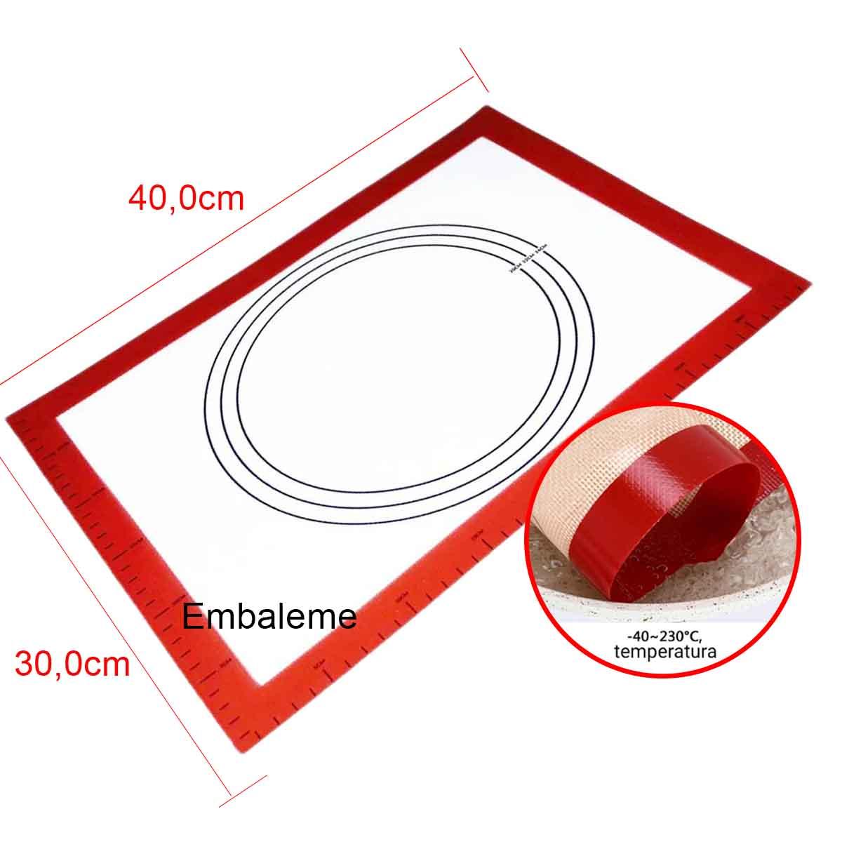 Tapete de Silicone com Fibra de Vidro 30x40cm YDH-1483