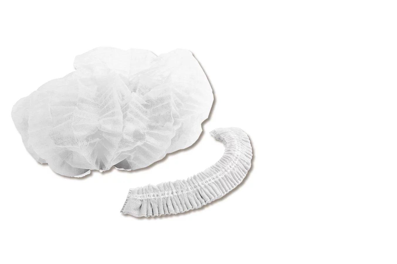 Touca sanfonada branca descartável c/100 HNDESC