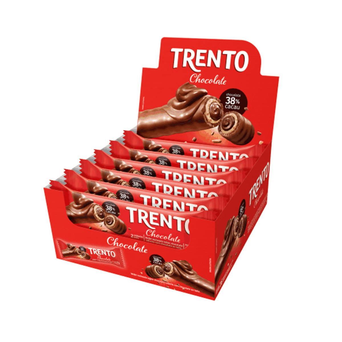 Trento Chocolate Caixa 16 de 32g 38% cacau