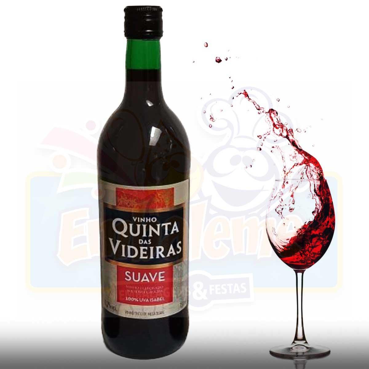 Vinho Tinto Suave Quinta das Videiras 750ml