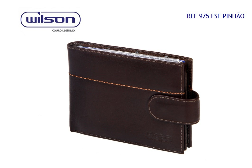 Carteira Wilson em Couro Pinhão 975FSF010