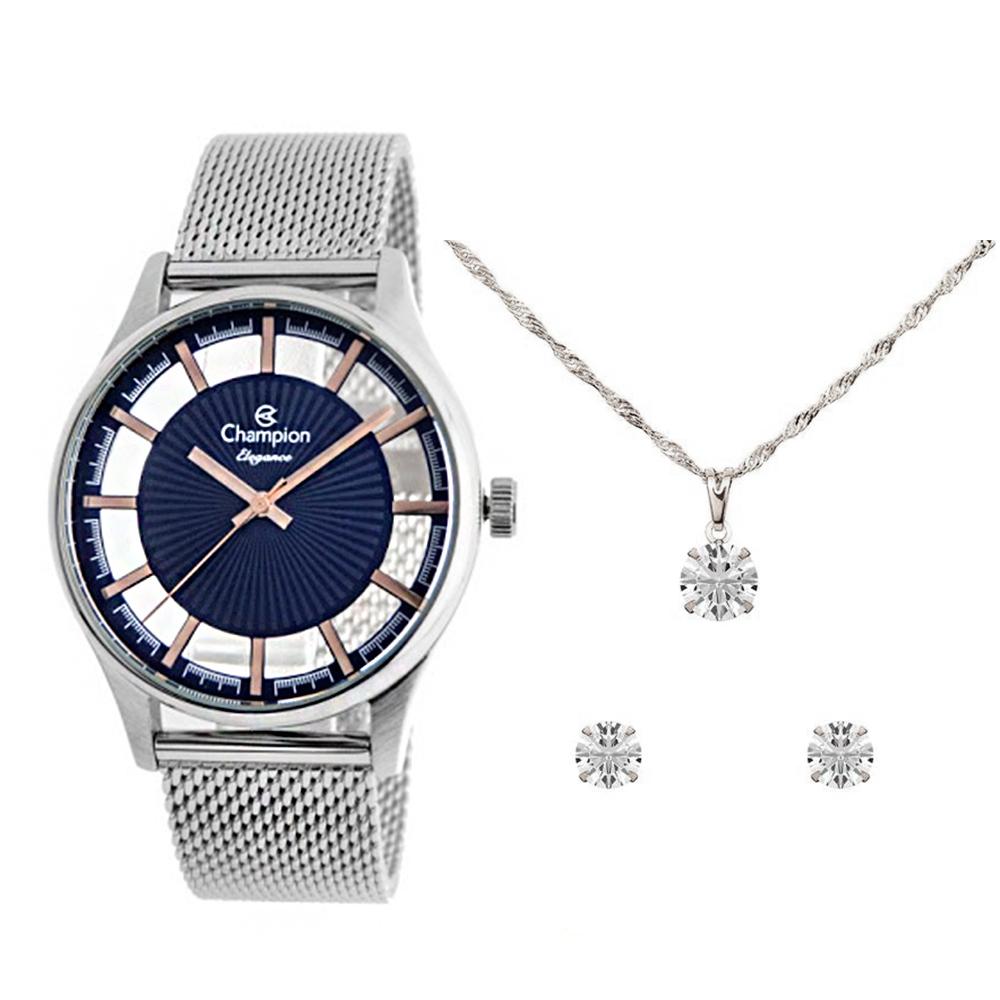 KIT Relógio Champion Feminino CN20908Y