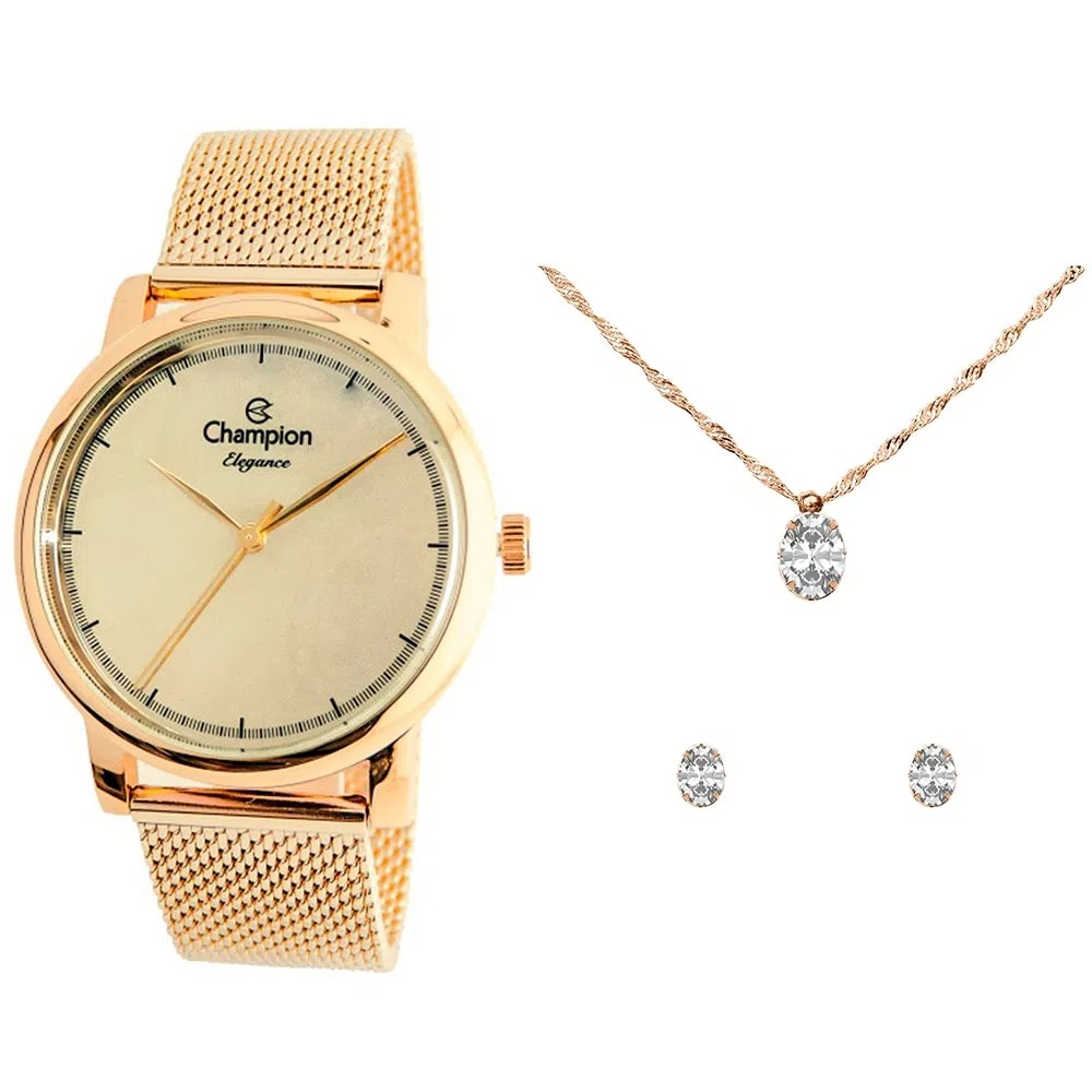 KIT Relógio Champion Feminino CN24413E