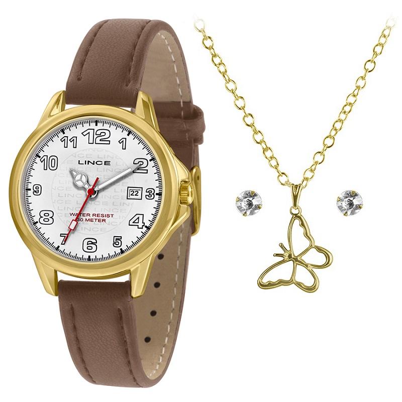 KIT Relógio Lince Feminino LRCH104L KW56