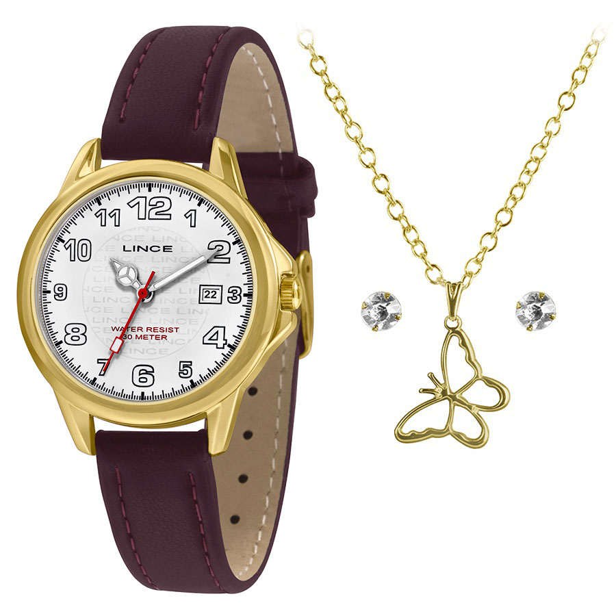 KIT Relógio Lince Feminino LRCH104L KW60
