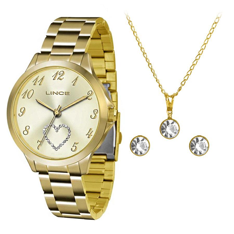 KIT Relógio Lince Feminino LRG4454L KT51