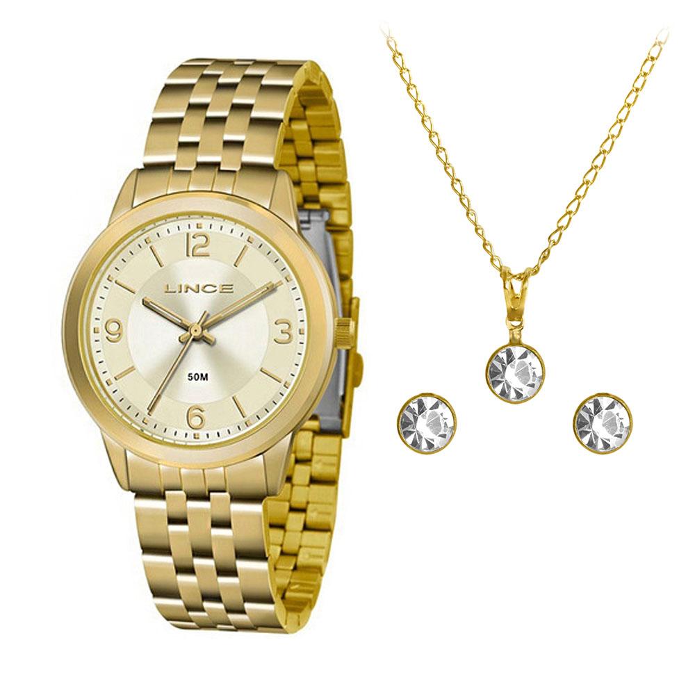 KIT Relógio Lince Feminino LRG4505L KU47