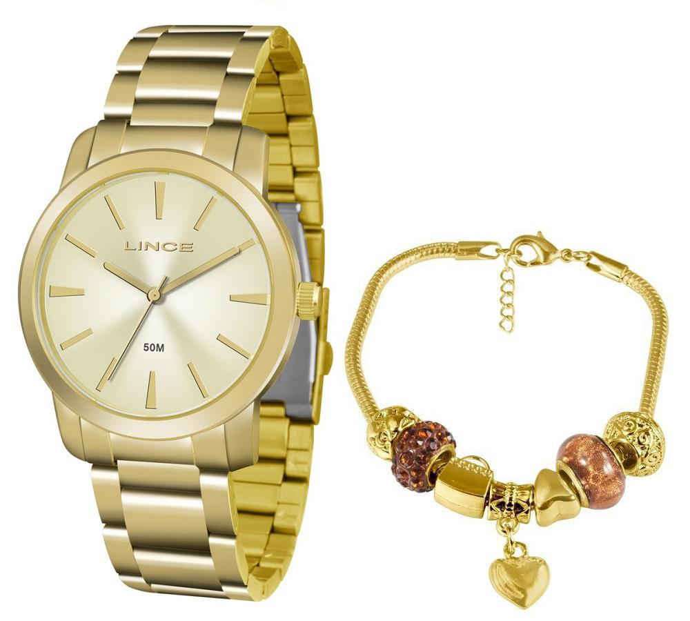 KIT Relógio Lince Feminino LRG4506L KU51