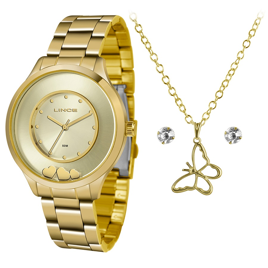 KIT Relógio Lince Feminino LRG4605L KW11