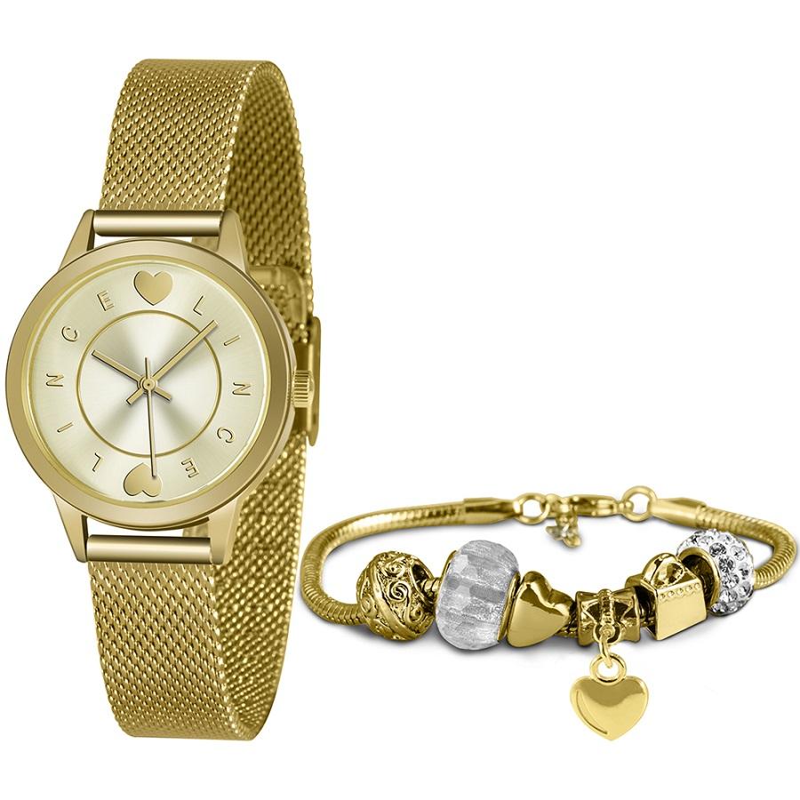 KIT Relógio Lince Feminino LRGH149L KY46