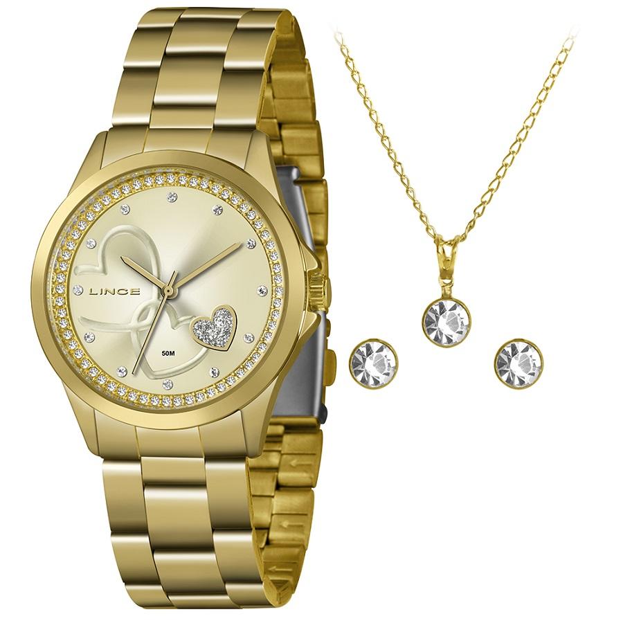 KIT Relógio Lince Feminino LRGJ107L KX77