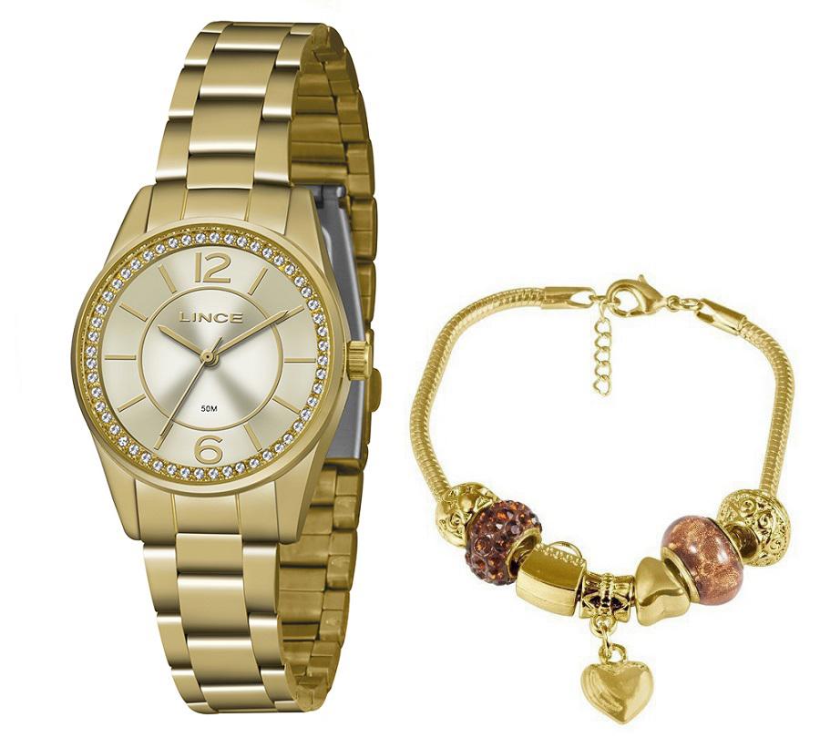 KIT Relógio Lince Feminino LRGJ112L KY63