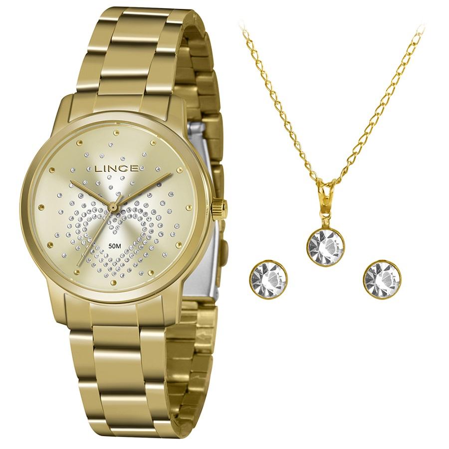 KIT Relógio Lince Feminino LRGJ129L KY96