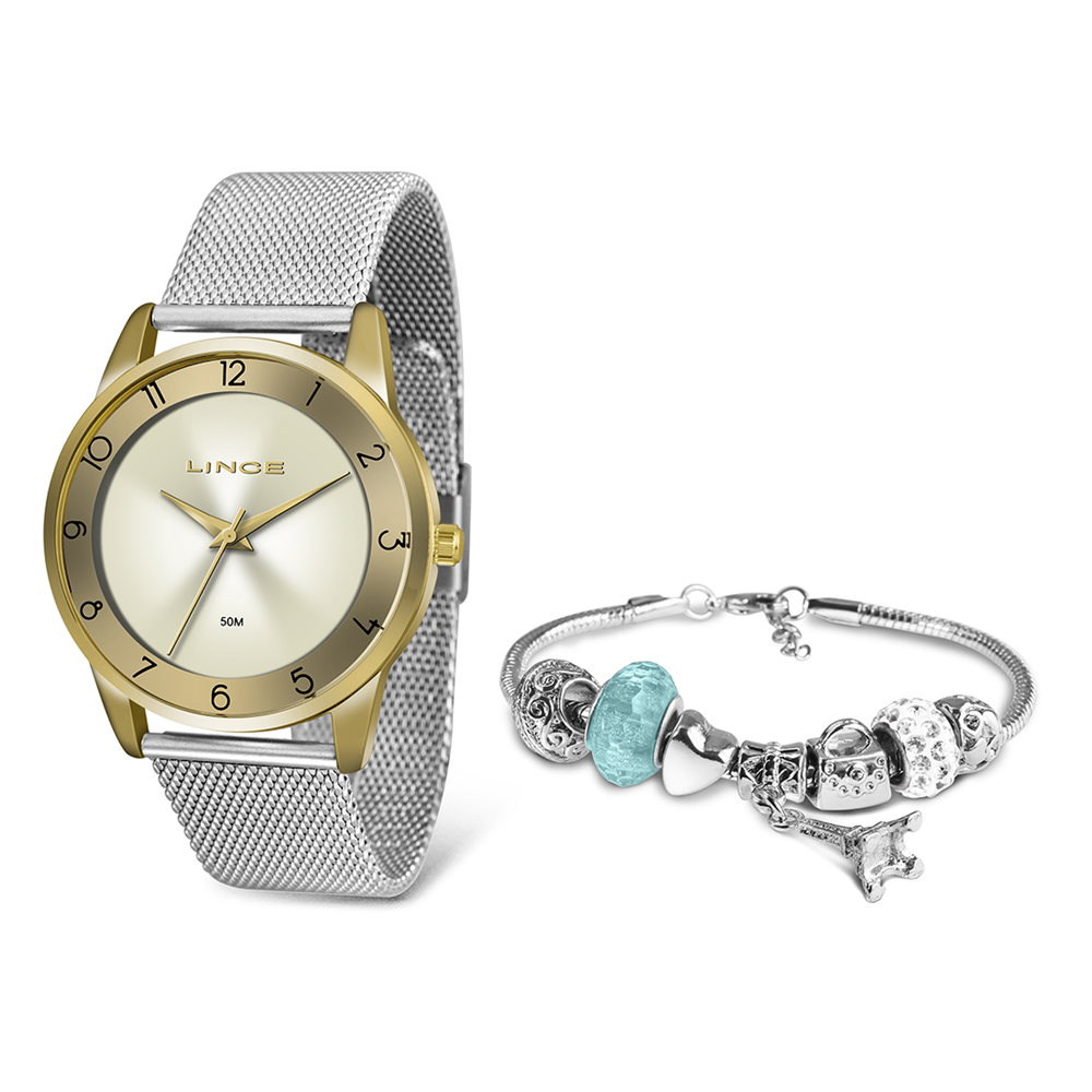 KIT Relógio Lince Feminino LRT4598L KW29