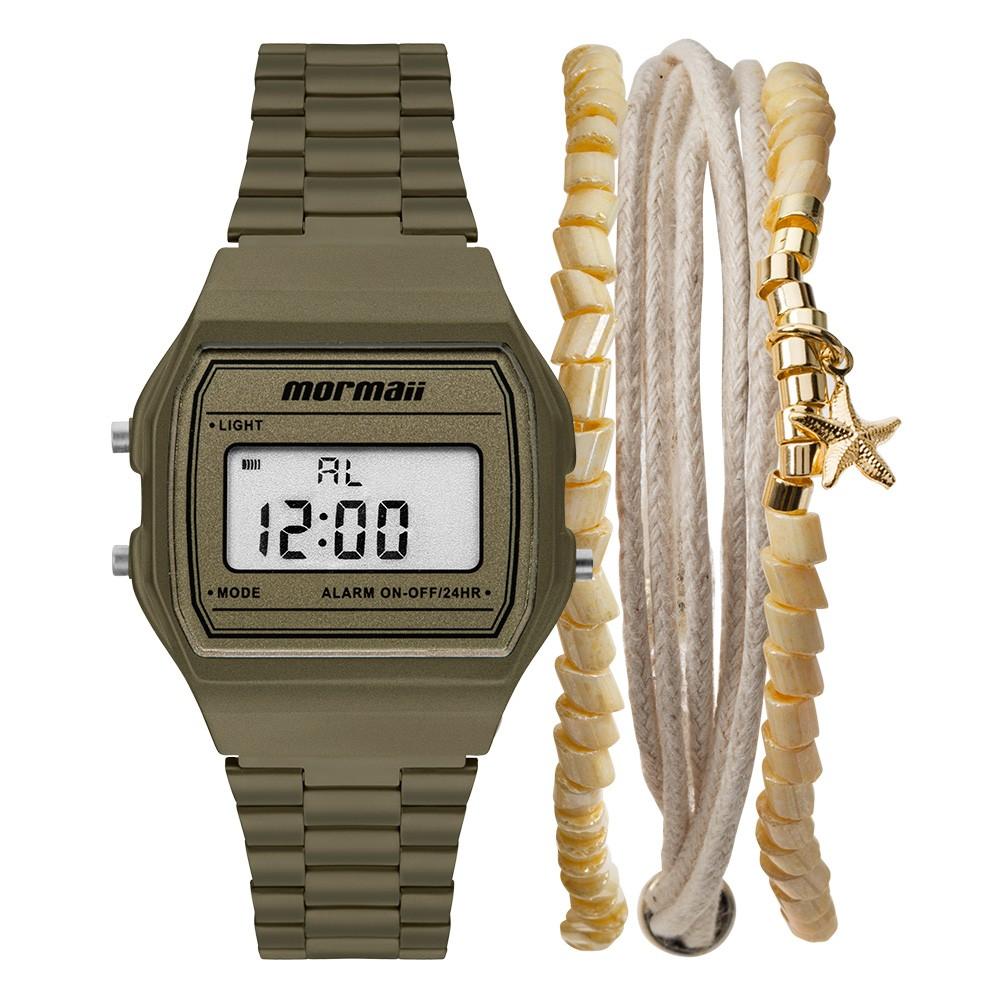 KIT Relógio Mormaii Digital Feminino MOJH02BK/K8V