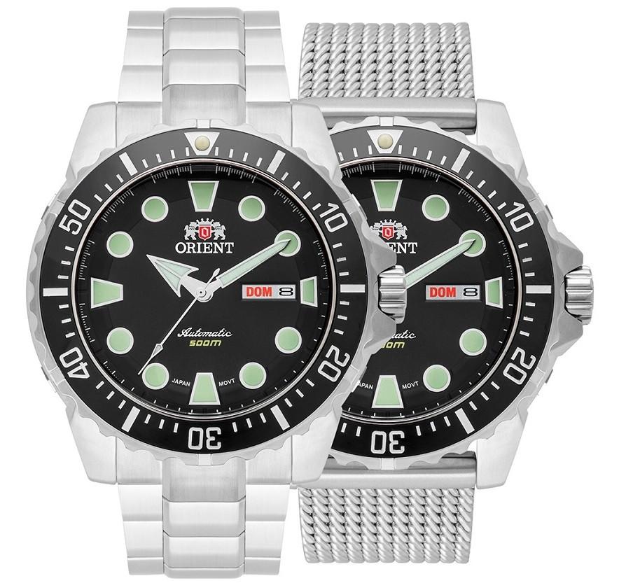 Kit Relógio Orient Netuno Automático 469SS073 P1SX