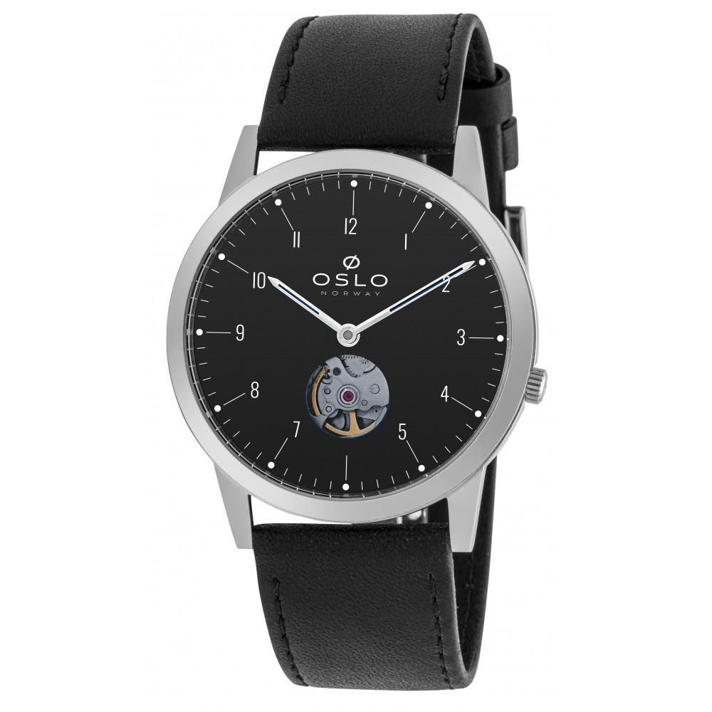 KIT Relógio Oslo Automático Slim Troca Pulseira Masculino OMBSCA900001 P1PX